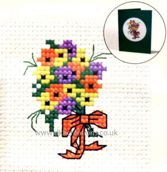 Floral Wishes Card Cross Stitch Kit
